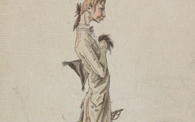 CARLE VERNET (Bordeaux 1758 1836 Paris) A Caricature of a Dandy.