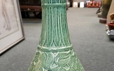 1960's Carved Celadon-Glazed Porcelain Phoenix-Tail