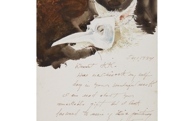 ANDREW WYETH | LETTER WITH NOME IN VENETIAN MASK
