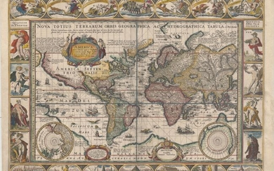"Jansson's Magnificent Carte-a-Figures World Map, ""Nova Totius Terrarum Orbis Geographica ac Hydrographica Tabula"", Jansson, Jan"