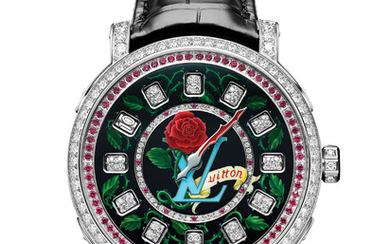 "LOUIS VUITTON ESCALE SPIN TIME - ONLY WATCH 2019 For the 2019 edition, Louis Vuitton presents a bold and unique piece: the ""Escale Spin Time"" watch. A timepiece featuring outstanding creativity and know-how, with a dial inspired by tattoo art.,"