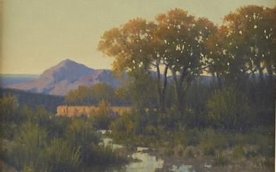 "Michael Stack ""San Pedro Evening Light"" Oil on Ca"