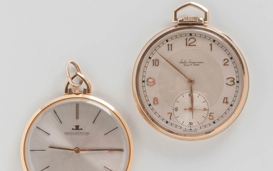 """Two Gold """"Thin"""" Open-face Watches"""