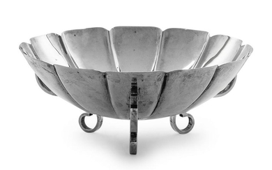 An American Silver Fluted Bowl Webster Co., North