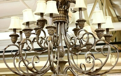 Continental Finished Metal Chandelier