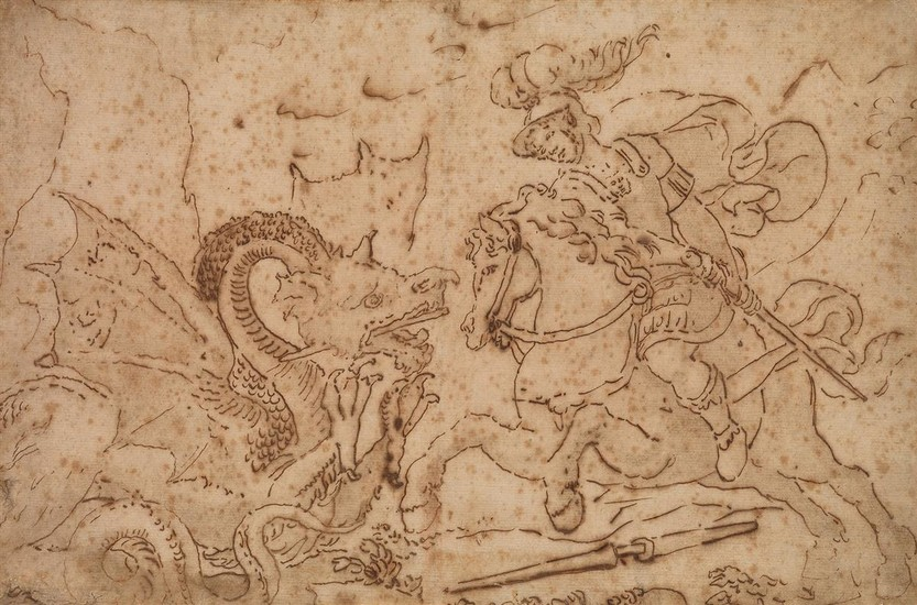 ITALIAN SCHOOL, LATE 16TH/EARLY 17TH CENTURY St. George and the Dragon.