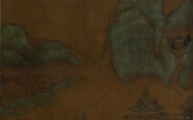 LANDSCAPE WITH PAVILION, Attributed to Qiu Ying