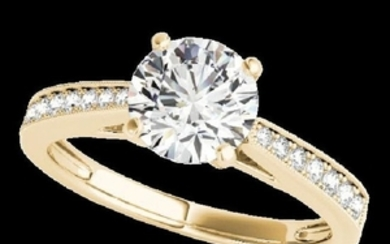 1.25 CTW H-SI/I Certified Diamond Solitaire Ring 10K