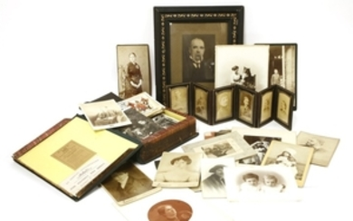 Approximately 150 Photographs, mostly loose. 1870s-1900, including many cabinet photos by ...