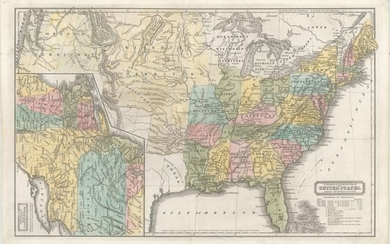 """Geographical & Statistical Map of the United States. Adapted to Woodbridge's Geography"", Woodbridge, William Channing"