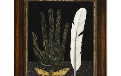 Richard Blow, Untitled (Hand with feather and moth)