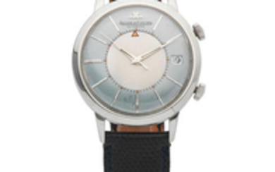 Jaeger-LeCoultre. A stainless steel bumper automatic alarm wristwatch
