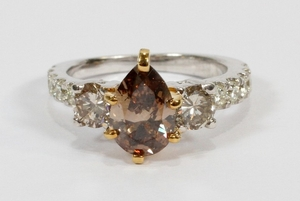 1.30CT NATURAL DIAMOND SI 1 1.50CT DIAMONDS 14KT GOLD RING SIZE 4.75 T.W. 4.4 GR
