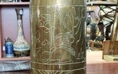 1956 Suez Crisis Trench Art Artillery Shell with
