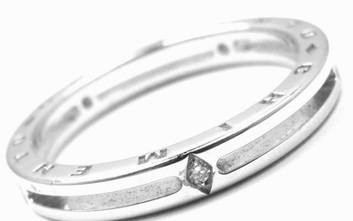 Authentic! Chimento 18k White Gold Diamond Band Ring
