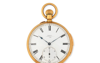 Badglet, Geneva & London. An 18K gold keyless wind quarter repeating open face pocket watch