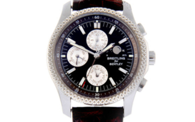 BREITLING - a gentleman's bi-metal Breitling for Bentley Mark VI Complications chronograph wrist watch.