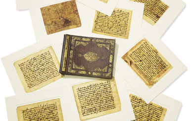 A SUBSTANTIAL GROUP OF LARGE KUFIC QUR'AN LEAVES, LATE UMAYYAD OR EARLY ABBASID, PROBABLY DAMASCUS OR JERUSALEM, MID-8TH CENTURY