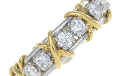 TIFFANY & CO. - a diamond 'Sixteen Stone' ring, by Schlumberger for Tiffany & Co.
