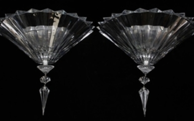 BACCARAT MILLE NUITS MATHIAS DESIGN CRYSTAL WALL SCONCE PAIR 14