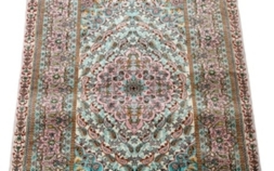 CHINESE HAND WOVEN SILK RUG 24 36