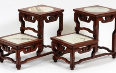 CHINESE STEP TABLES 20TH C. PAIR 11 13