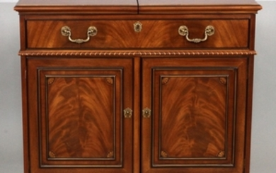 CHIPPENDALE STYLE MAHOGANY SERVER WITH SLIDES 34.5 38 CLOSED 60 OPEN 19