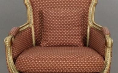 CUSTOM UPHOLSTERED ARM CHAIR 38 28 19