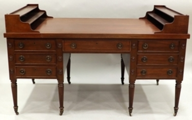GEORGE WASHINGTON STYLE AMERICAN MAHOGANY PARTNERS DESK 34 60 34