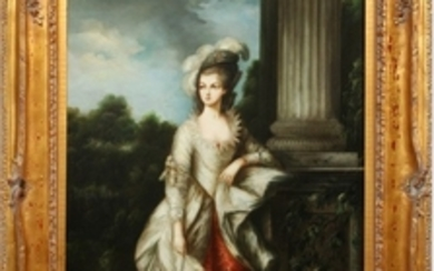 L. MASON PAINTING 36 24 COPY OF THE HONOURABLE MRS. GRAHAM BY THOMAS GAINSBOROUGH