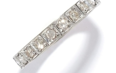 DIAMOND ETERNITY RING in 18ct white gold, set with