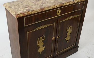 Empire Marble Top Server/Cabinet