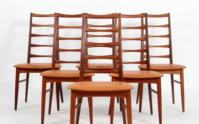 Niels Koefoed. Set of 6 chairs, Model 'Lis', in solid teak (6)