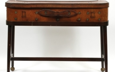 LEATHER METAL DECORATIVE TABLE 20 26