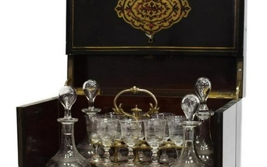FRENCH NAPOLEON III BOULLE WORK CAVE A LIQUEUR