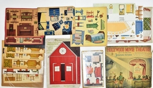 Paper Dollhouse Furniture Uncut On Sheets