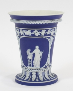 WEDGWOOD JASPERWARE POTTERY VASE 19TH C
