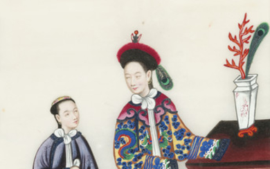 Chinese School, 19th century, Costumes of the Imperial Court – a set of ten