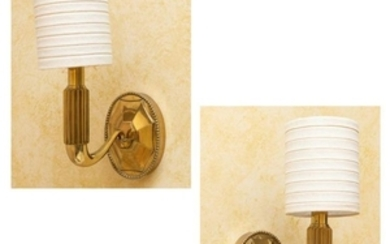 French Brass Sconces - Pair
