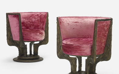 Paul Evans, Sculpted Metal lounge chairs