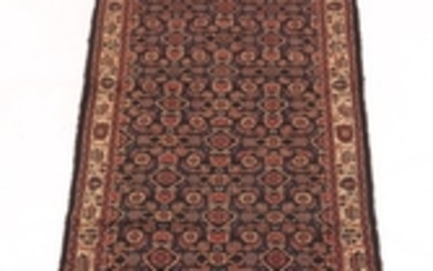 Semi-Antique Hand-Knotted Mahal Runner