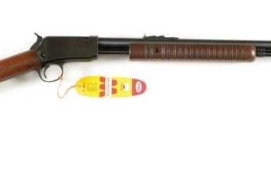 (C) WINCHESTER MODEL 62A SLIDE ACTION RIFLE.