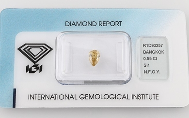Loser Diamant 0,55 ct Natural Fancy Orange Yellow