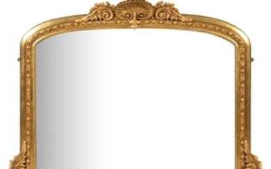 19th Century Gilt Painted - Over Mantle Mirror