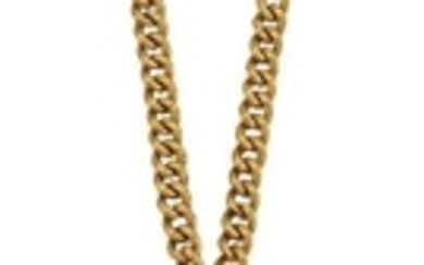 A Chinese gold pendant and neckchain, the...