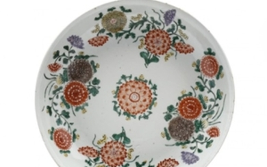 A Chinese Porcelain Charger with Flowers