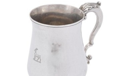 A George III silver baluster mug by John King
