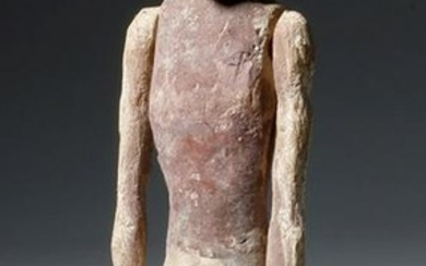 Large Egyptian Wooden Boatman w/ Articulated Arms