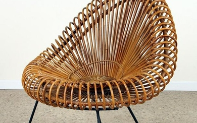 RATTAN AND IRON CHAIR DESIGNED BY JANINE ABRAHAM