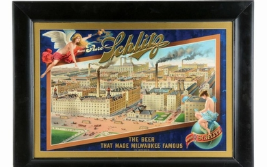 PURE SCHLITZ BREWERY SIGN.